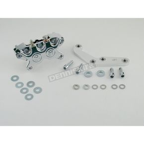 Performance Machine Front Single Disc 125x4R Polished Caliper Kit for 11 1/2 in. Rotor - 1213-0017P