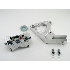 Performance Machine Rear 125x4R Polished Caliper Kit for 11 1/2 in. Rotor - 1274-0052P