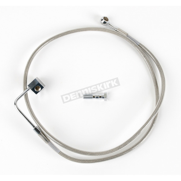 Rear Standard Length Clear-Coated Braided Stainless Steel Brake Line Kit - 1204-2743
