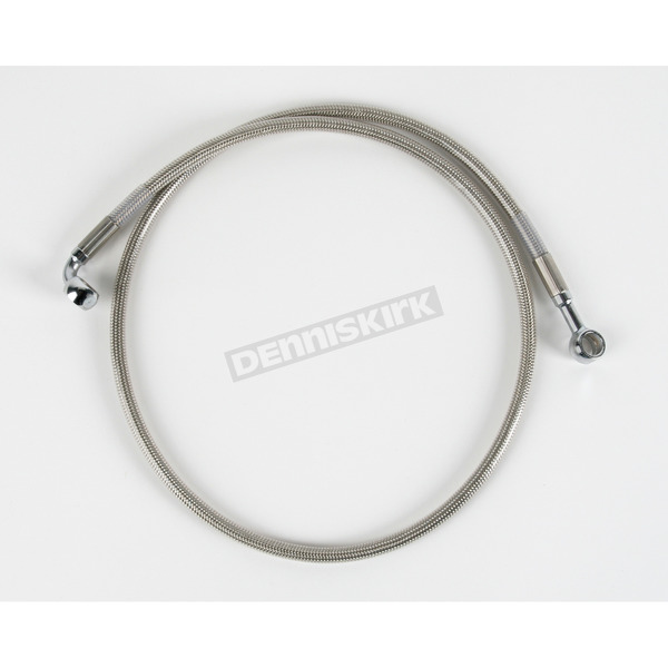 Drag Specialties Front Standard Length Clear-Coated Braided Stainless Steel Brake Line Kit - 1204-2753
