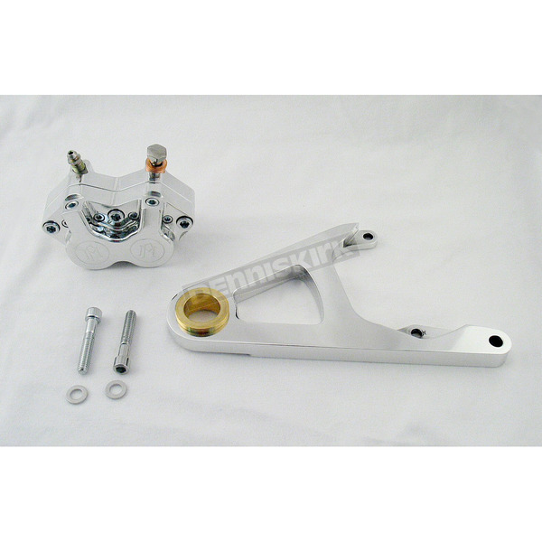 Performance Machine Front Single Disc 125x4S Polished Caliper Kit for 11 1/2 in. Rotor - 1217-0017P
