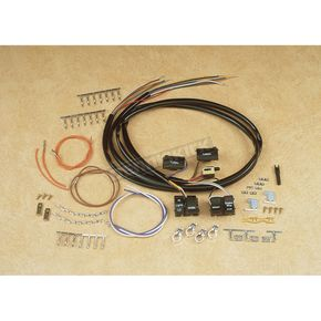 Custom Chrome Black Handlebar Wiring Harness w/Switches - 27299