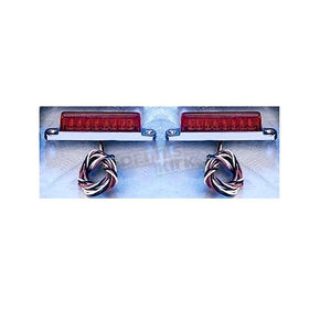 Back Off Red LED Light Bar with Chrome Base-3.25 in. - 02043