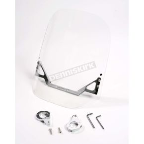 WindVest Clear Windshield for Custom Application w/1 1/4 in. Tee Bars - 10-1280C