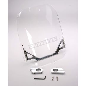 WindVest Clear Windshield for Custom Application w/1 1/4 in. Bars w/o Risers - 10-1290C