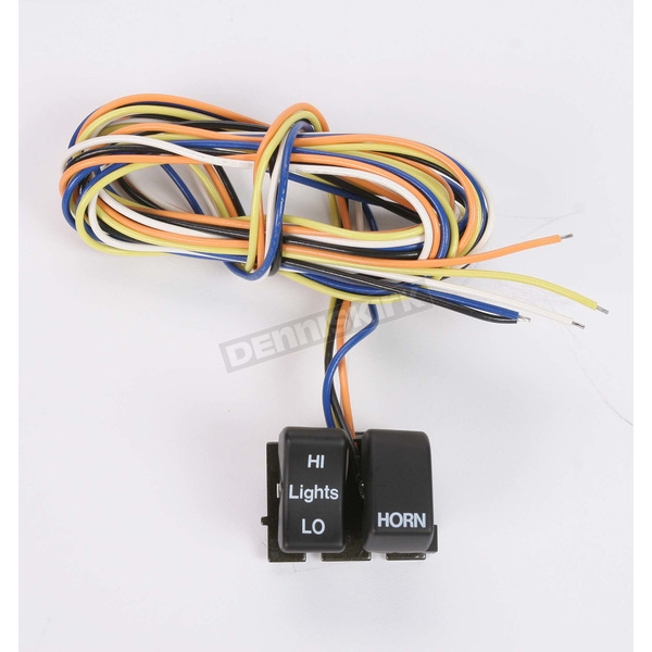 Drag Specialties Black Dimmer and Horn Switches - DS-272252A