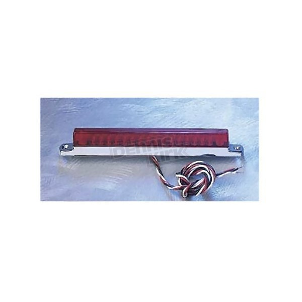 Back Off Red LED Light Bar with Chrome Base-6 in. - 02009