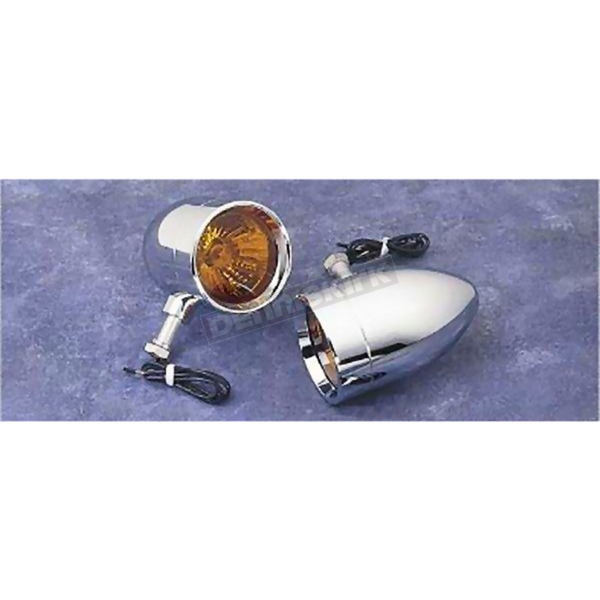 Lazer Star Rigid Bullet Turn Signals w/ Amber Lens Kit - LSK-1820A-R