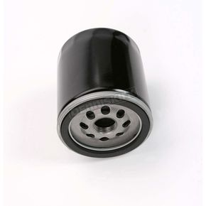 Drag Specialties Black Oil Filter w/17mm Nut - 0712-0021