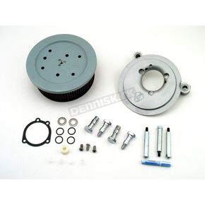 Arlen Ness Natural Big Sucker Stage 2 Performance Air Cleaner Kit without Cover for CV Carb - 18-499