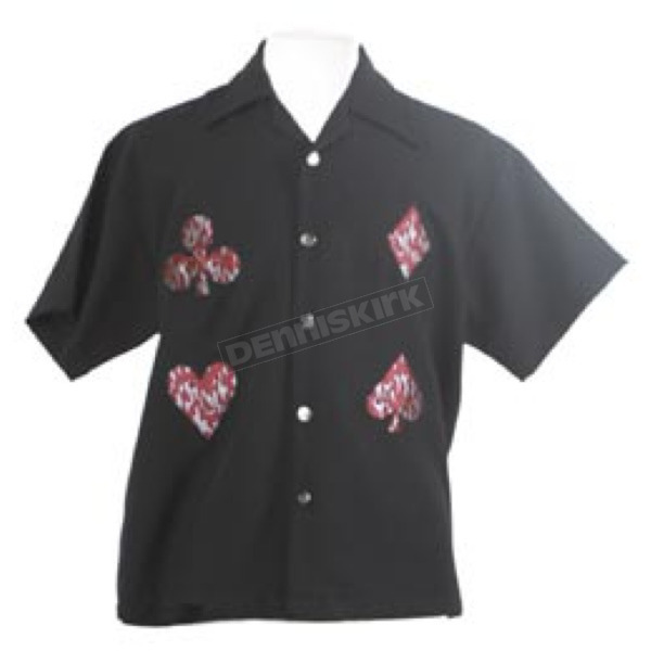Johnny Suede Card Shark Suits Shirt - H35237M