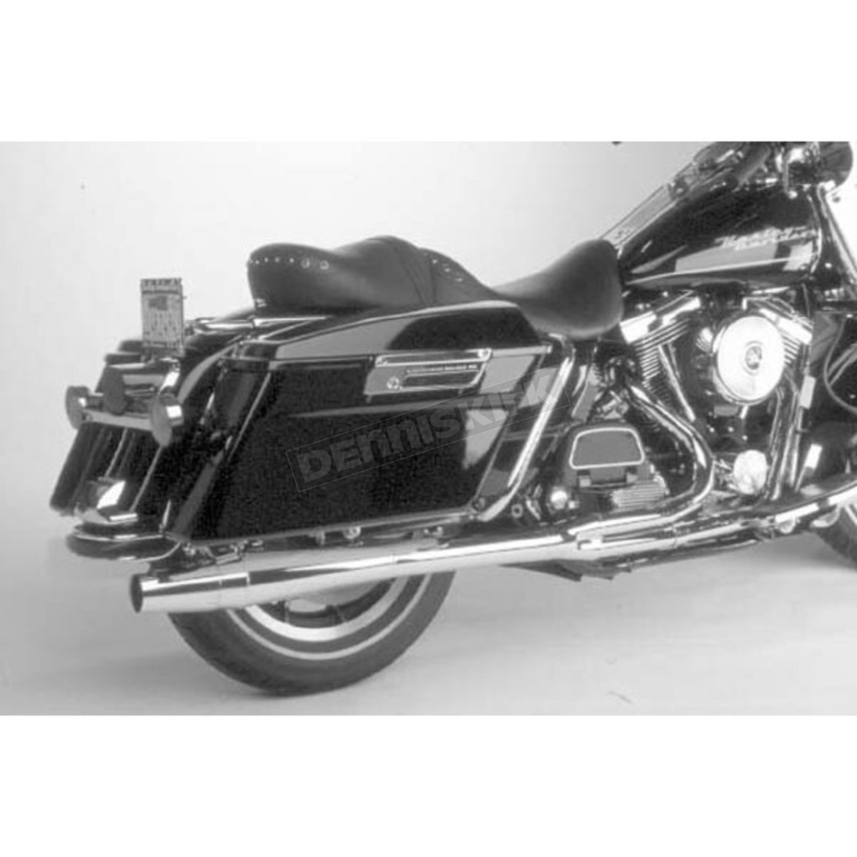 Chrome Long Style High-Performance 2-Into-1 Exhaust System with Heat  Shields - 1024S