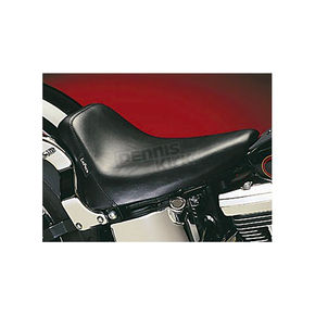 LePera 12 in. Wide Bare Bones Smooth Solo Seat with Biker Gel  - LGN-007