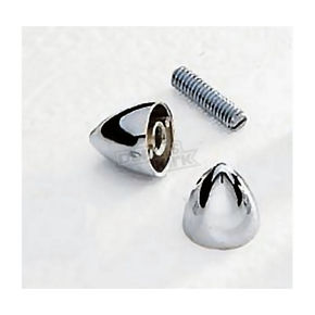 Drag Specialties Plain Krometts with 6mm Stud - DS-190512