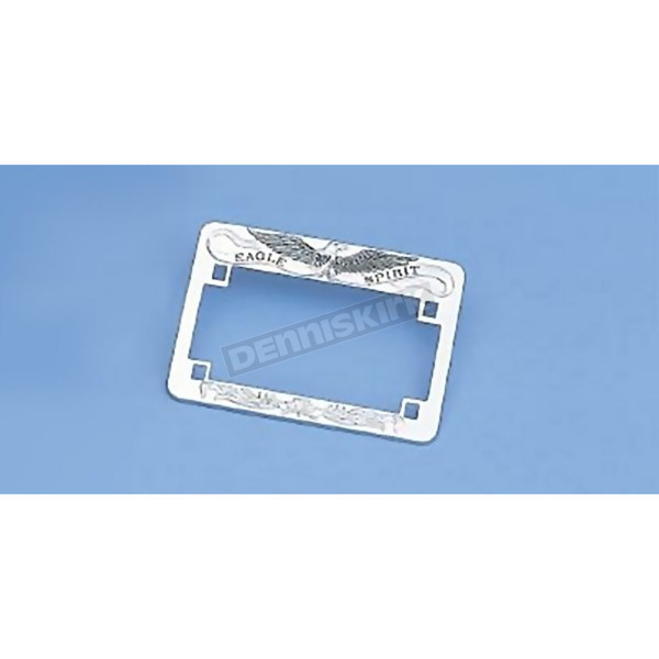 Drag Specialties Chrome Eagle Spirit License Plate Frame - DS-720813