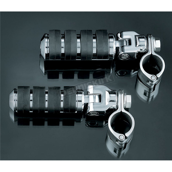 Kuryakyn Large ISO-Pegs with Clevis & 1 1/4 in. Clamps - 8033