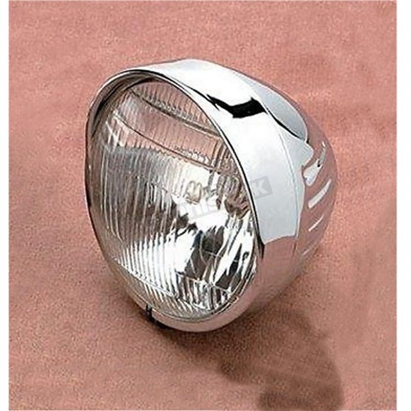 Drag Specialties 6 1/2 in. Springer-Style Headlight w/ Visor and Grooves - DS-280033