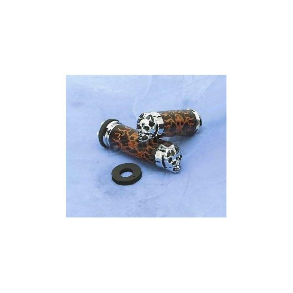 Drag Specialties Leather Skull Grips with Plain Eyes - DS-243255