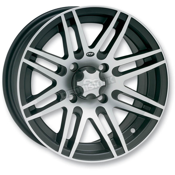 ITP Rear Black SS316 Alloy 12x7 Wheel - 1228516536B