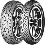 Front 491 Elite ll 130/90B-16 Raised White Letter Tire - 4071-40