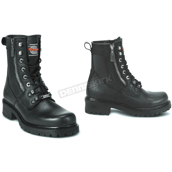 Milwaukee Motorcycle Clothing Co. Mens Trooper Leather Boots - D Width - MB41624