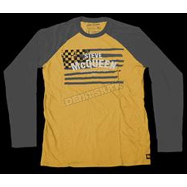 Troy Lee Designs Yellow/Charcoal McQueen Americana Long Sleeve T-Shirt - 2762-0008