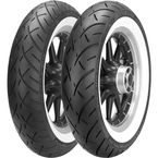 Front ME888 Marathon Ultra 130/90-16 Wide White Sidewall Tire - 2407600