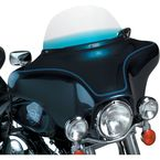9 in. Replacement Gradient Blue Plastic for use with OEM Harley-Davidson Windshield Hardware - MEP8116