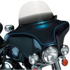 7 in. Replacement Gradient Black Plastic for use with OEM Harley-Davidson Windshield Hardware - 2310-0253