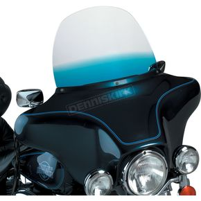 Memphis Shades 15 in. Replacement Gradient Blue Plastic for use with OEM Harley-Davidson Windshield Hardware - MEP8036