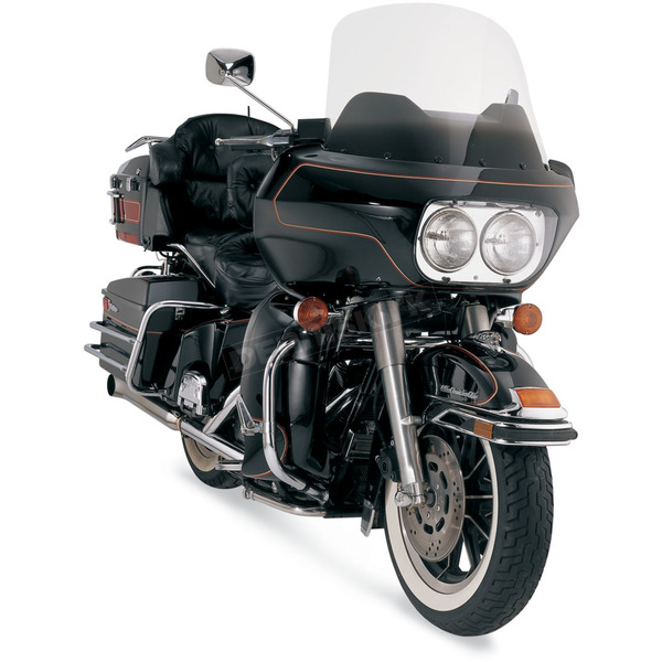 Memphis Shades 18 in. Replacement Gradient Black Plastic for use with OEM Harley-Davidson Windshield Hardware - MEP8421