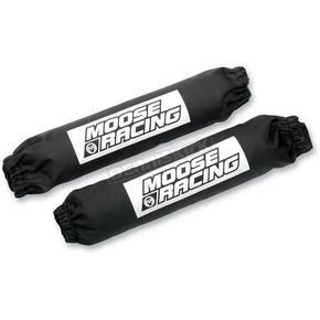 Moose Front Black 11 3/4 in. Shock Covers - MUDP29