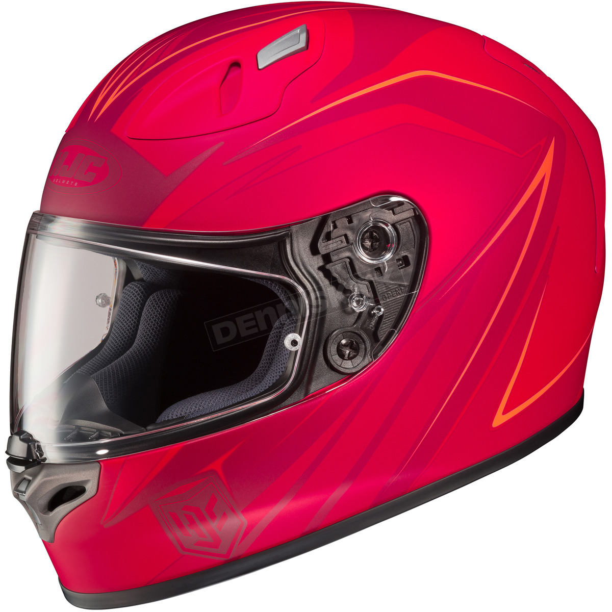 hjc red fg 17 mc 1f thrust helmet 58 8712 harley motorcycle goldwing dennis kirk inc. Black Bedroom Furniture Sets. Home Design Ideas