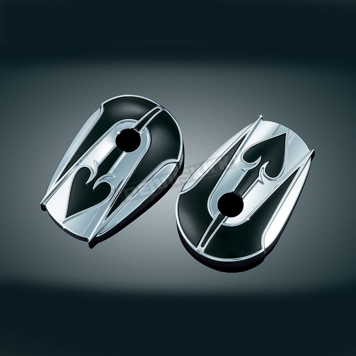 Kuryakyn ace of spade covers for oem mirrors 1755 harley for Mirror spades