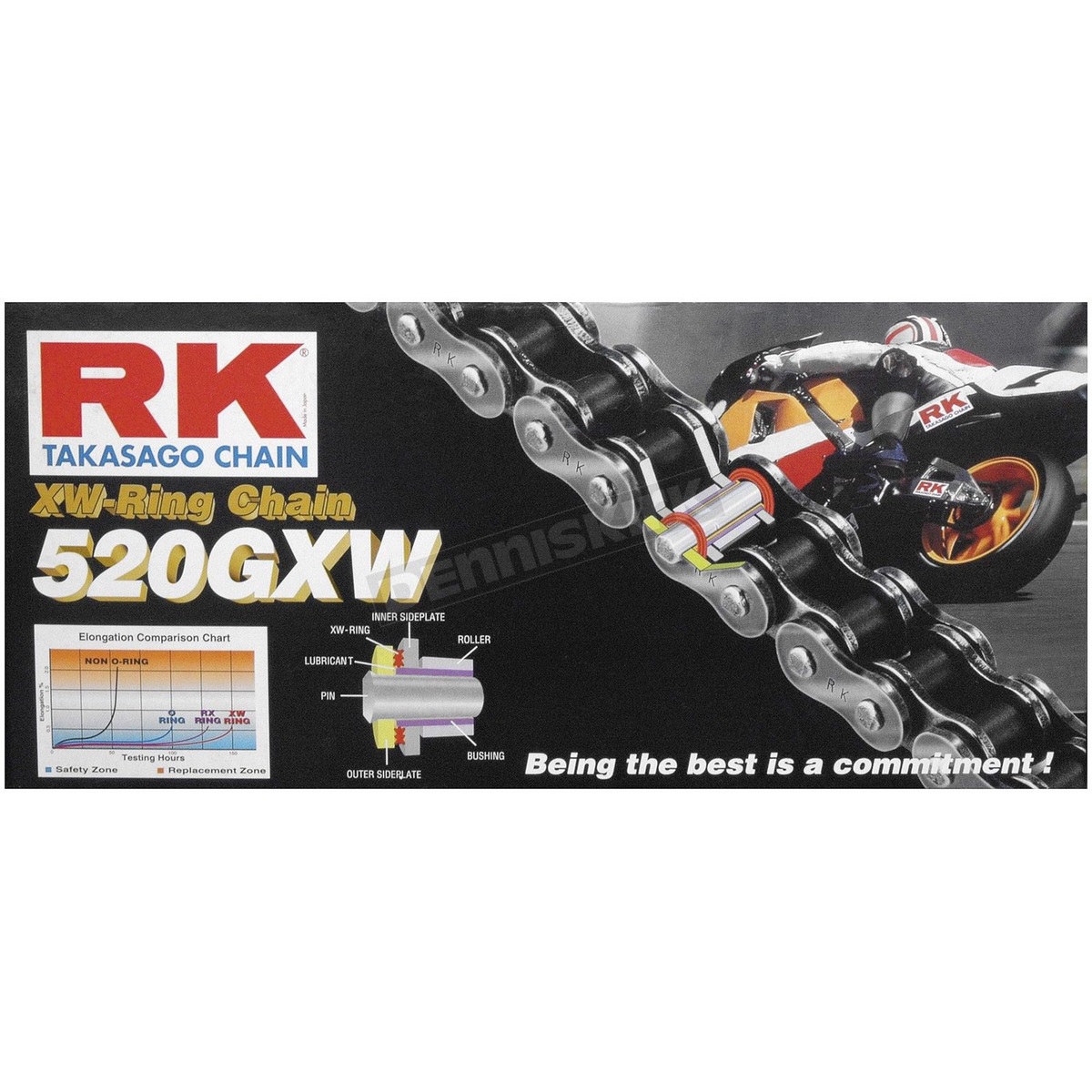 Rivet Connecting Link 520 GXW XW-Ring Chain RK 520GXW-RIVET