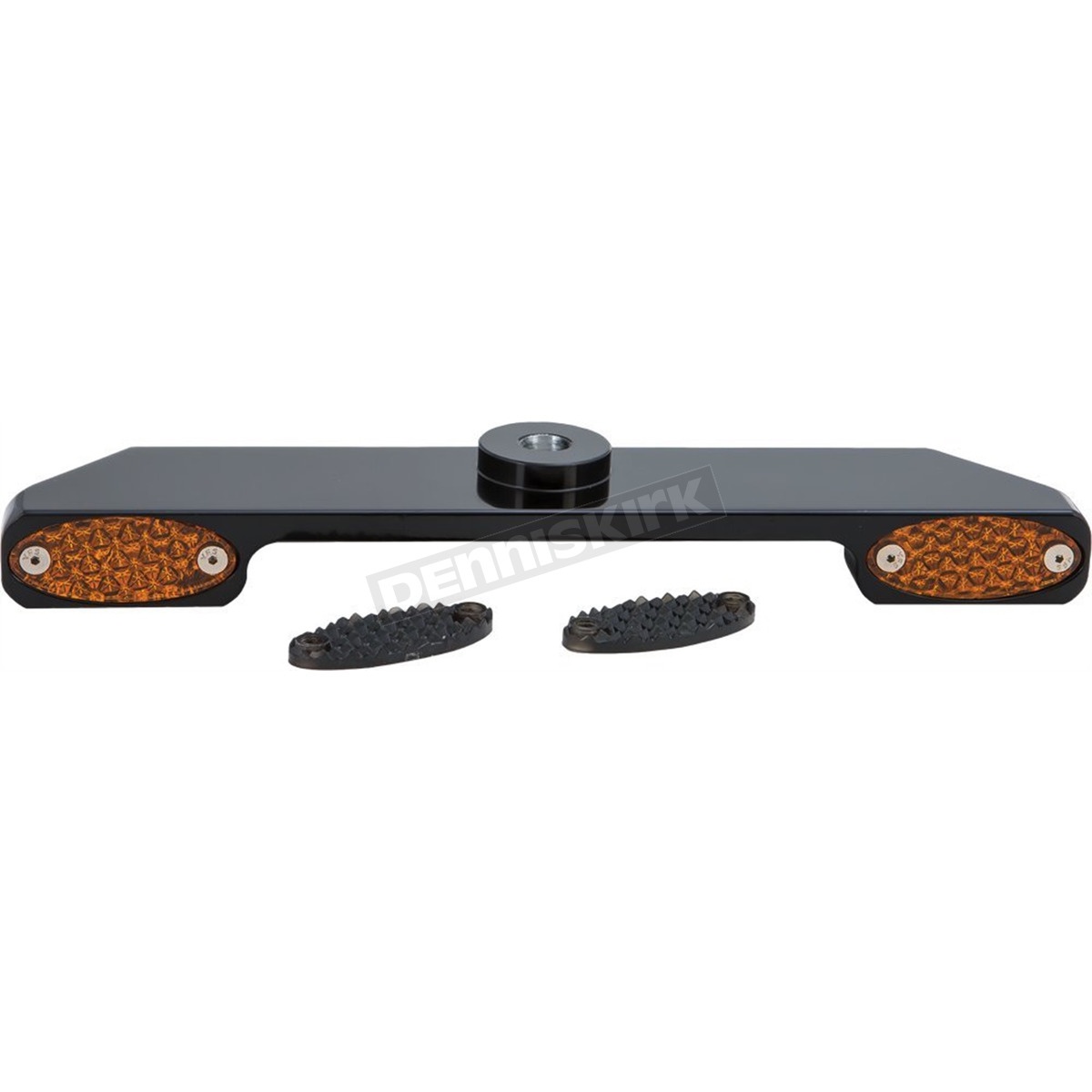 Black Billet Single Circuit Amber LED Turn Signal Bar for Wide Glide Front  Ends - 909102B