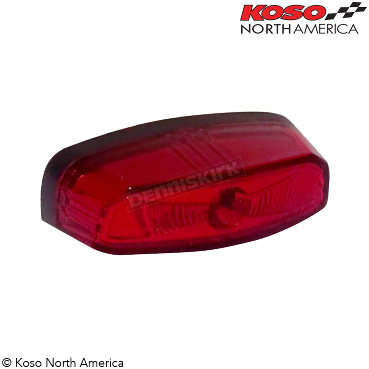 Drag Specialties LED Taillight Cat Eye with Red Lens DS280455