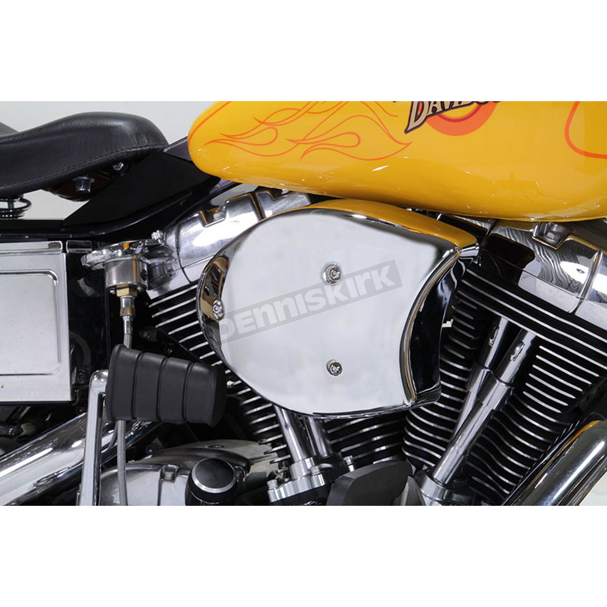 Air Cleaners For Motorcycles : Wyatt gatling chrome air cleaner assembly  harley