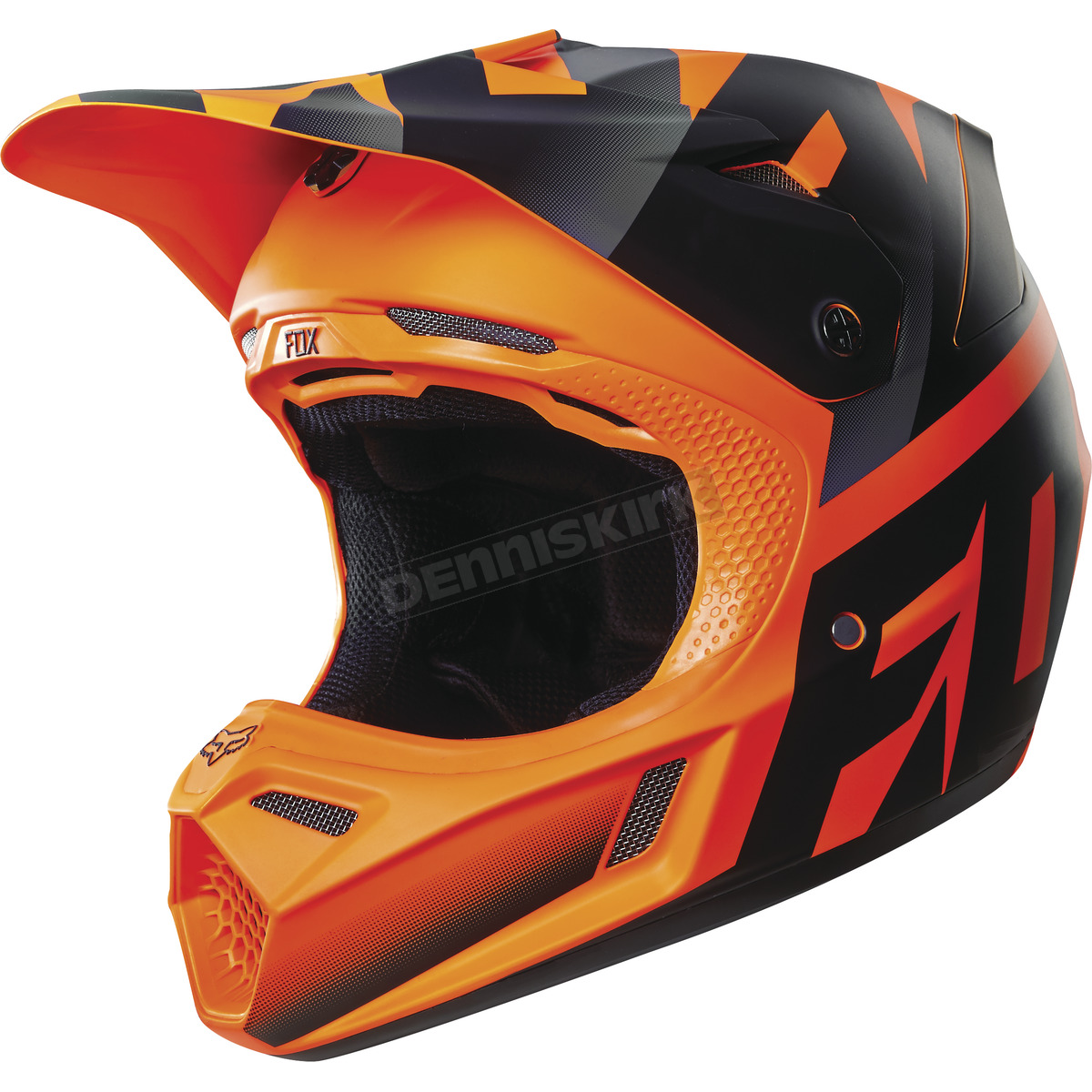 fox orange shiv v3 helmet 14939 009 s atv dirt bike. Black Bedroom Furniture Sets. Home Design Ideas