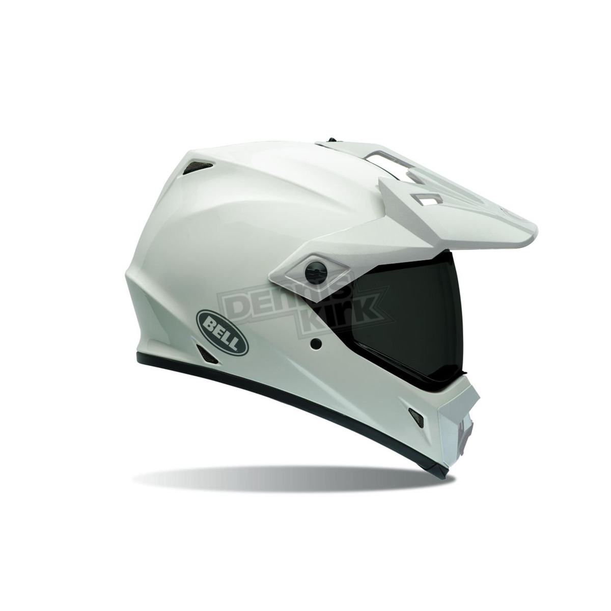 bell helmets white mx 9 adventure helmet 7070625 atv dirt bike dennis kirk inc. Black Bedroom Furniture Sets. Home Design Ideas