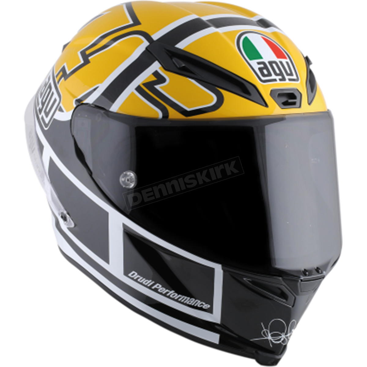 agv yellow black corsa r goodwood helmet 6121o0hy00108 motorcycle dennis kirk. Black Bedroom Furniture Sets. Home Design Ideas