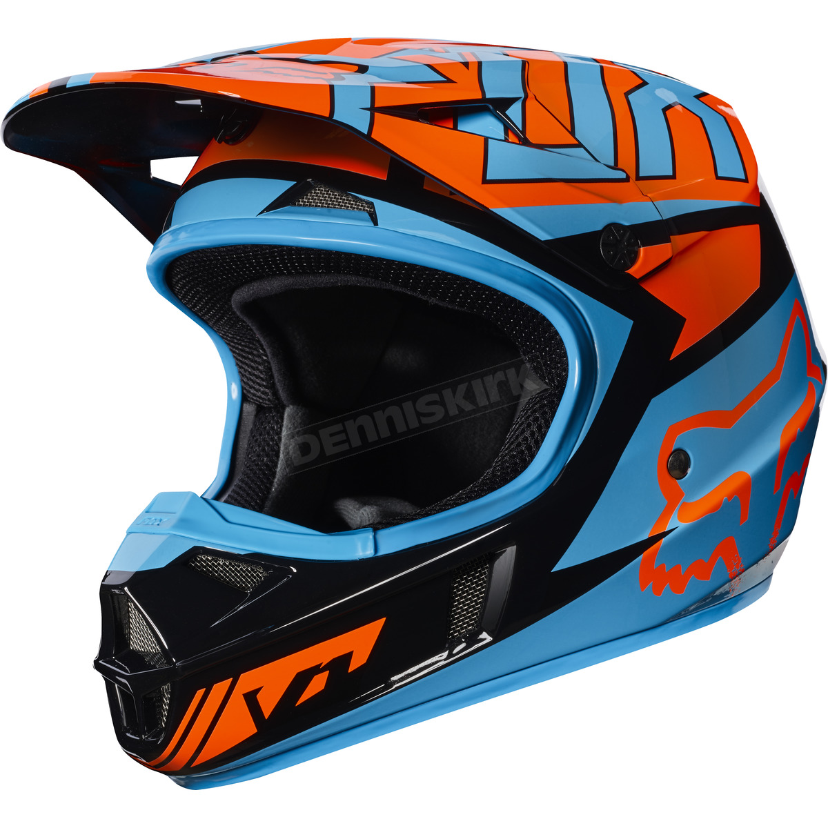 fox youth black orange v1 falcon helmet 17399 016 s atv. Black Bedroom Furniture Sets. Home Design Ideas