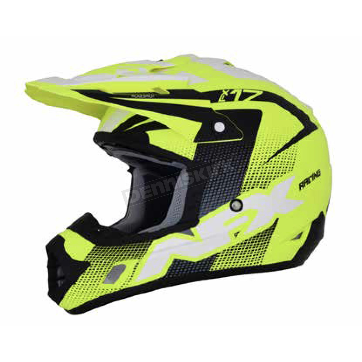AFX Matte Neon Yellow/Black/White FX-17 Holeshot Helmet