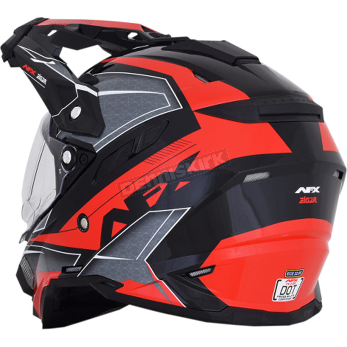 af915de1 AFX Black/Red FX-41 DS Eiger Helmet - 0110-5350 Dirt Bike Motorcycle ...