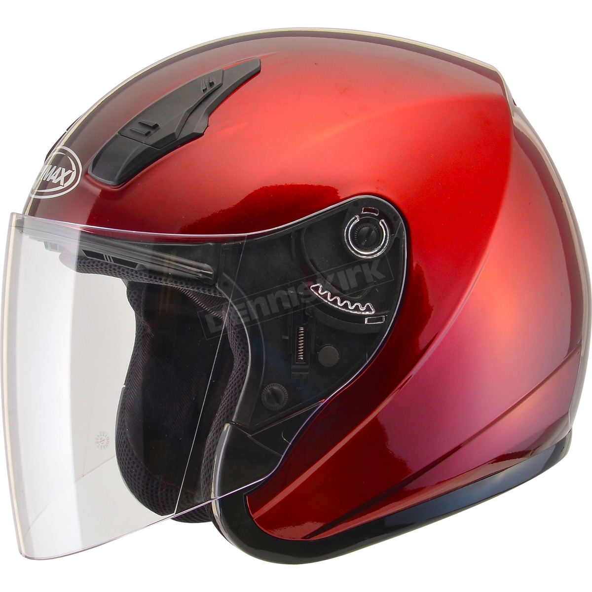 GMAX OF-17 Open-Face Motorcycle Helmet Choose Size Blue