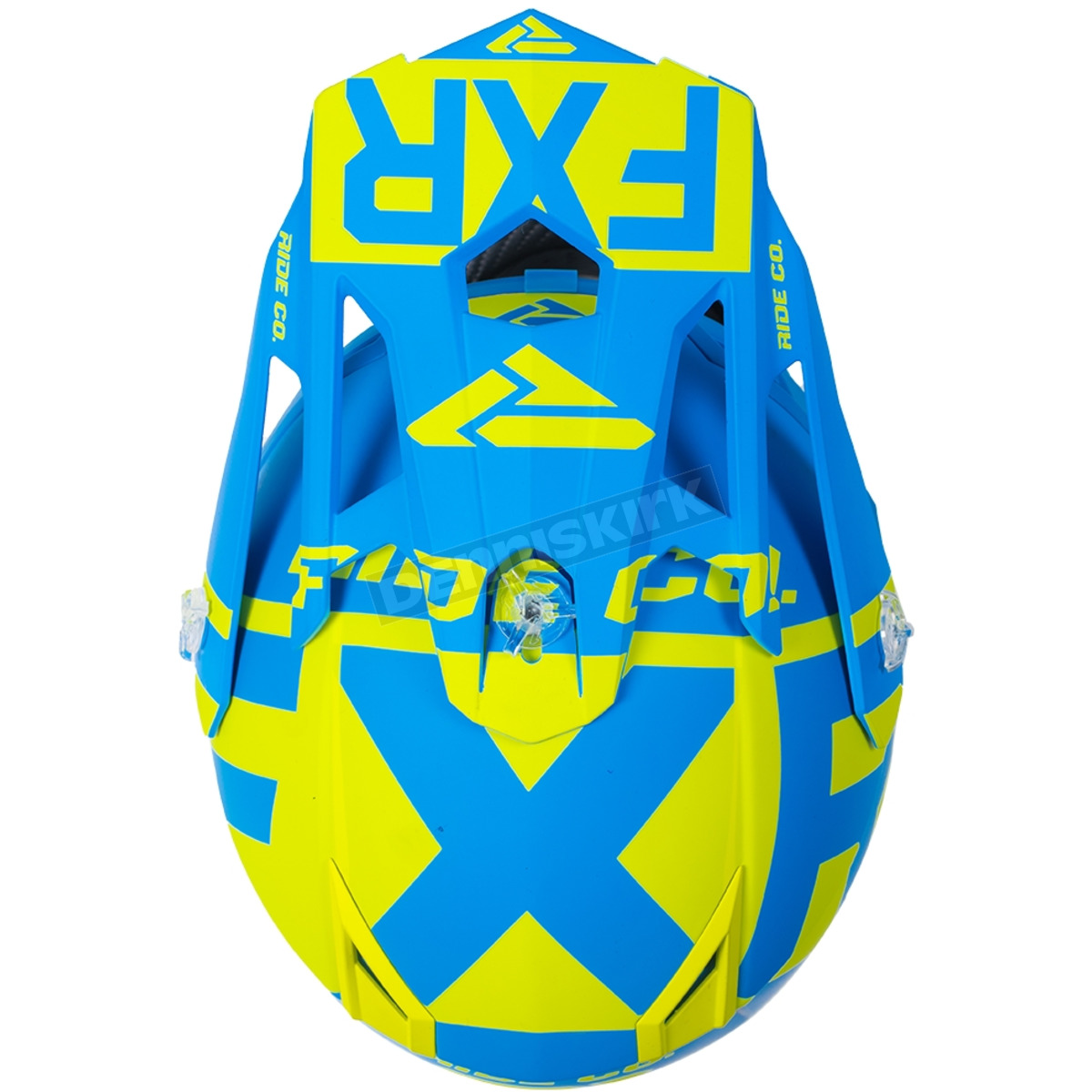 bcec04c4 FXR Racing Youth Hi-Vis/Blue Boost Clutch Helmet - 190631-6540-07 ...