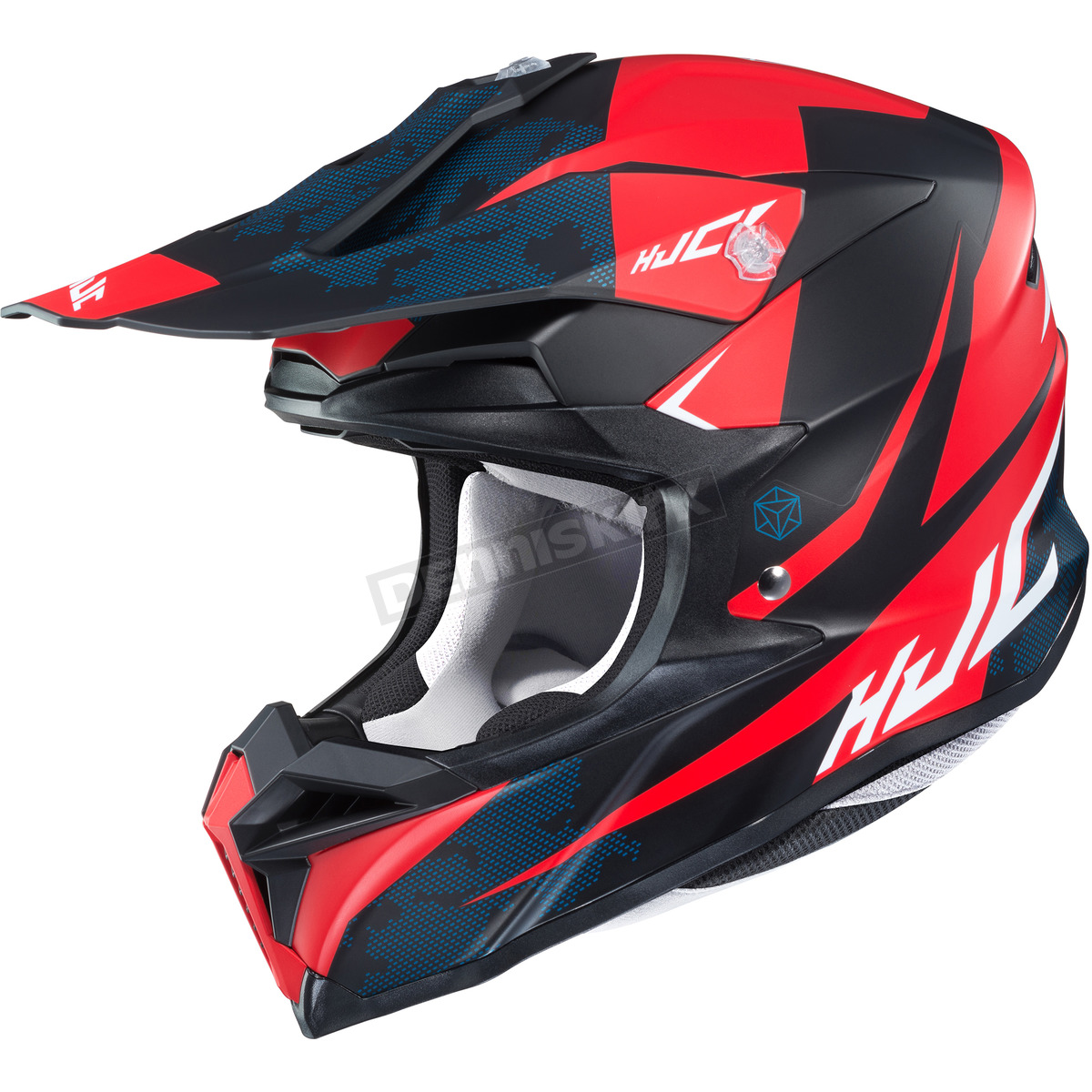041e1e7fb643c6 HJC Semi-Flat Red/Black/Blue/White i50 Tona MC-5SF Helmet - 1306-711 ...