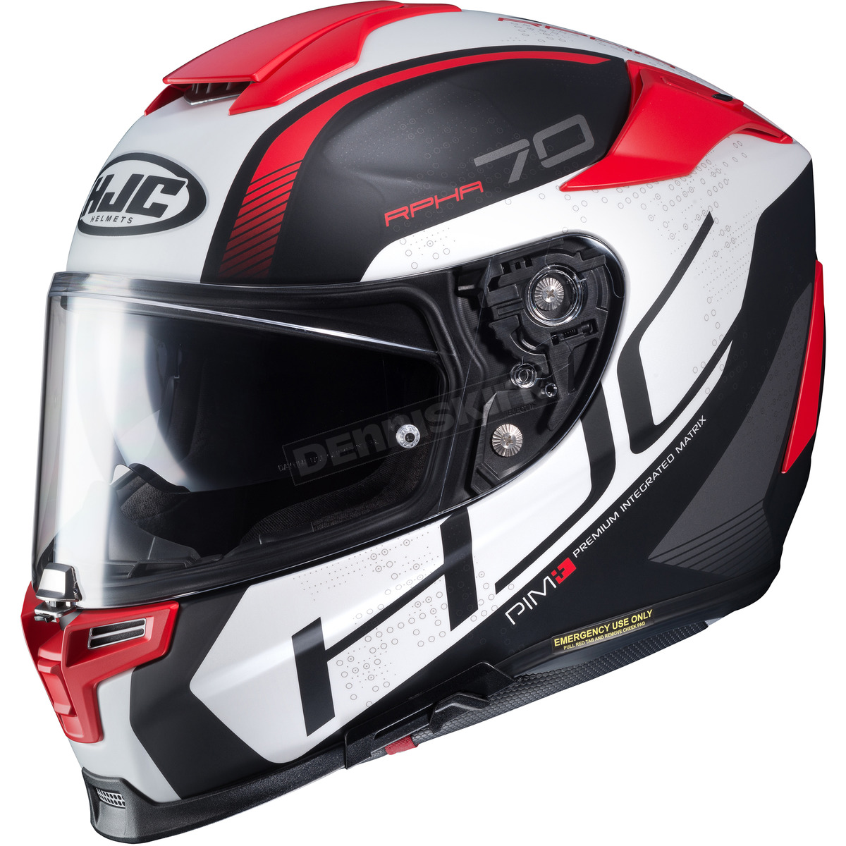 87a53a0a HJC Semi-Flat White/Black/Red RPHA-70 ST Vias MC-1SF Helmet - 0804 ...