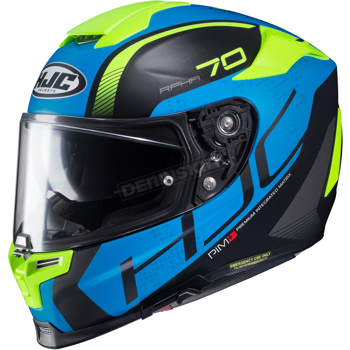 3f594b5b HJC Semi-Flat Blue/Black/Green RPHA-70 ST Vias MC-2SF Helmet - 0804 ...