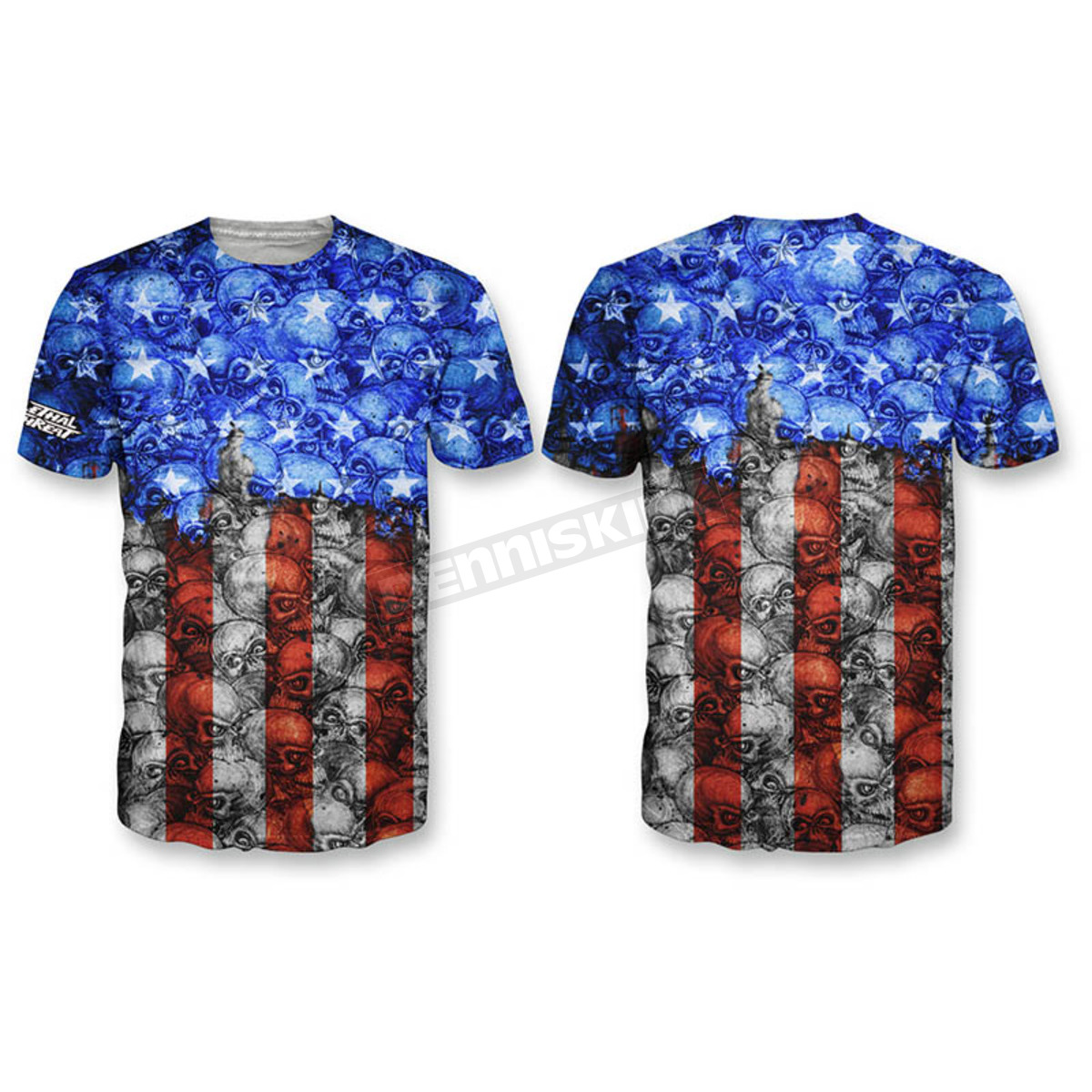 c9a9ee8c Lethal Threat Camo USA Skull T-Shirt - SC50504M Harley Motorcycle ...